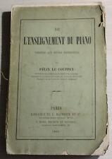 1865 - de l'Enseignement du PIANO par Félix le Couppey