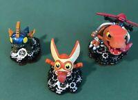 Skylanders Trap Team Minis Sidekicks Lot Of 3 Trigger Snappy, Drobit, & Chopper