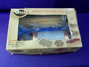 Vintage MIRRO Cookie Pastry Press Complete Set 12 Discs 3 Tips Press & Manual