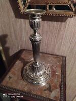 Bougeoir en Bronze Argenté Style Louis XVI