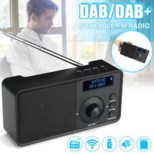 Portable bluetooth DAB/DAB FM Stereo Radio LED Alarm Clock Speaker Gift