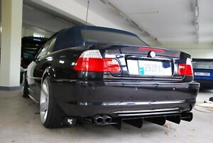 WIDEEST race rear diffuser /undertray for BMW E46 Non M3. ADJUSTABLE.