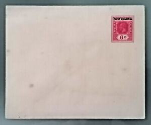 CEYLON India stationery cover specimen on 6 c. red, unused