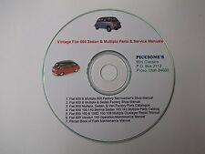 Vintage Fiat 600 Sedan & Multipla Parts & Service Manuals