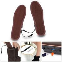 Electric Heated Shoe Insoles Warm Socks Feet Heater USB Winter Warmer Pads SD