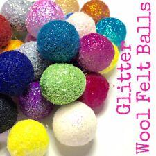 Pack of 3 - Glitter Felt Balls for felt flower craft
