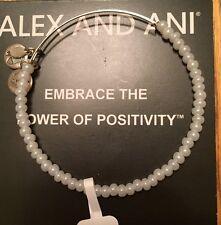 ALEX and ANI WHITE Color Sea BEAD BANGLE Bracelet NWT RARE