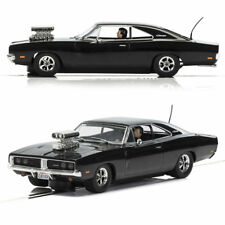 SCALEXTRIC Slot Car C3936 UnBoxed Dodge Charger (gloss black) with blower