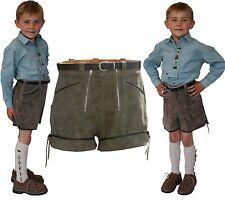 kurze sportliche Lederhose Shorts + 2 RV für Kinder