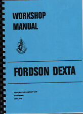 "Fordson ""Dexta"" Tractor Workshop Manual Book"