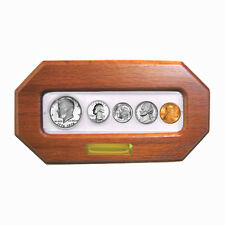 1971 - 5 Coin Year Set - Choice Brilliant Uncirculated - In Custom Oak Frame