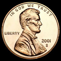 2001 S Lincoln Memorial Penny ~ Mint Proof from Original U.S. Proof Set