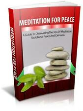 Meditation For Peace Ebook On CD $5.95 Plus Resale Rights Free Shipping