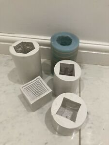 5 Decorative Candle Silicon Moulds