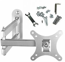 BPS Tilt and Swivel TV Wall Mount Bracket With Arm (Silver) For 10-30 Inch LED