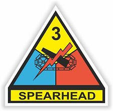 3RD Armored Division Spearhead decal US ARMY NEW UNITED STATES