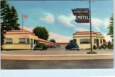 LONDON, Ontario  Canada   ELIZABETH COURT DELUXE MOTEL  1950s Roadside  Postcard