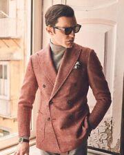 New $2.7K Stile Latino (Attolini) handmade blazer US 38 EU 48 double breasted