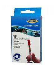 Ring Alcohol Breathalyser Kit For France NF Approved Twin Pack French Law RCTBR3