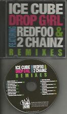 ICE CUBE Drop Girl 12TRX REMIXES & CLEAN & INSTRUMENTAL PROMO CD single red Foo