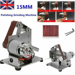 15MM Mini Grinder Belt Sander Sanding Machine Grinding Polishing Machine Tool