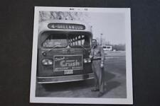 Vintage Photo Greenwood Gm Bus Driver Orange Crush Soda Sign Free Shipping 882