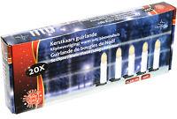 LED Christbaum Kerze Weihnachtsbaum Lichterkette 20 Kerzen LED´s warmweiß Deko