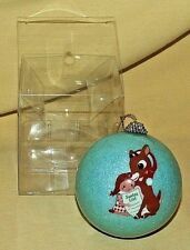 Rudolph Ornament Island Misfit Toys Small Ball Christmas New Blue Glitter Sally.