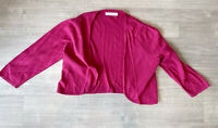 Seasalt Egloskerry Cardigan Pink Size 16 100% Cotton 3/4 Sleeves Casual Summer