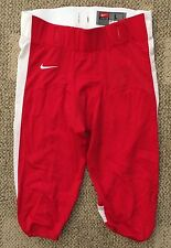 Nike Mens Open Field Football Pants Red & White Size Large No Pads 615745-658