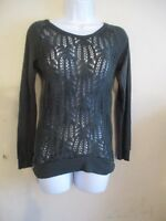 Womens MAURICES Open Knit Chunky Long Sleeve Sweater Green Size X-Small