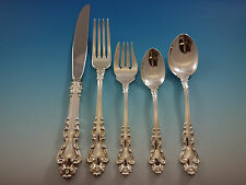 Spanish Baroque Reed & Barton Sterling Silver Flatware Set Service 64 PC Dinner