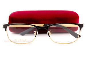Brand New GUCCI Eyeglass Frames GG 0700/OJ  001 Black/Gold Titanium For Men