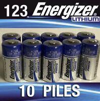 1Lot De 20 Piles CR123 au lithium - Energizer  NEUF