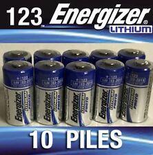 Lot De 10 Piles CR123 au lithium - Energizer  NEUF