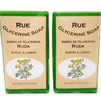 2 Pack Murray & Lanman Rue Glycerine Soap Jabon de Ruda y Glicerina