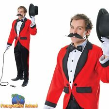 CIRCUS ENTERTAINER RING MASTER LION TAMER - One Size - mens fancy dress costume