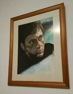 Framed Hand Drawn Al Pachino Portrait