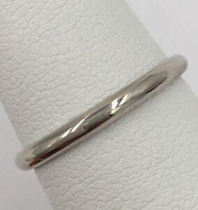 14K White Gold 2.00mm Ladies Wedding Band Size 5.75 1.7 Grams