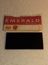 VINTAGE EMERALD BRAND FILTER PLATE