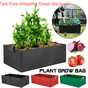 Square Pocket Pouch Grow  Planting Bag Garden Bed For Flower Vegetable A+
