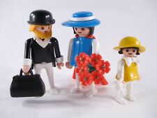 PLAYMOBIL VINTAGE 3365x WESTERN FAMILY TRAIN BRIDE GROOM GIRL-COMPLETE-EXCELLENT