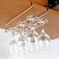 Wine Glass Cup Holder Under Cabinet Hanging Rack Beneath Cupboard Hanger JA