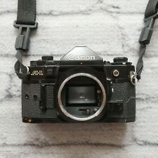 Canon A-1 35mm SLR Film Camera Black Body Only Vintage