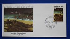 Marshall Islands (292) 1991 WWII: Japanese Capture Guam Official FDC
