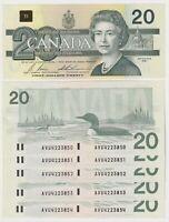 Canada $20 (1991) BC-58b-i -  aUNC Banknotes ** Prefix AVU ** ✹DB L39✹