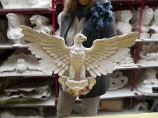 Aigle mural imposant américain en plâtre patiné 70 cm