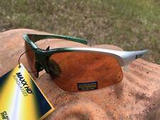 71cdc739d740b Maxx HD Sunglasses Domain Silver Green Golf High Definition Brown Lens A1