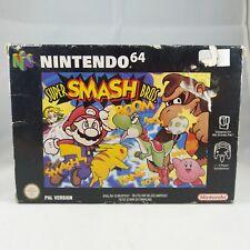 N64 Nintendo - Super Smash Brothers - PAL RARE - No manual BOXED