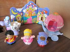 Fisher Price Little People Avon Cinderella Fairy godmother AA Prince set 100%